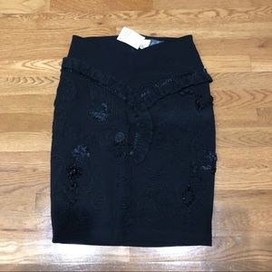 H&M beaded/fringe pencil skirt - 10